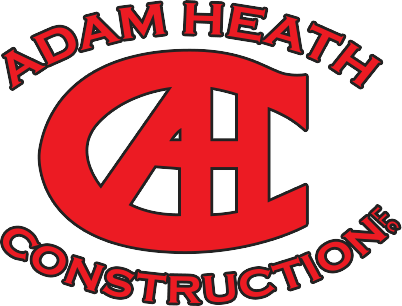 Adam Heath Construction logo red